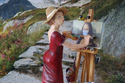 Art, Mona, Painter, Lisa, Forgery, Color, Brush, Woman