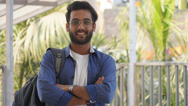 Man, Student, College, Glasses, Eyeglasses, Person