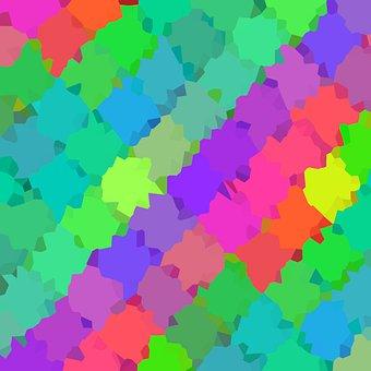 Pixel, Colorful, Pattern, Geometric, Texture, Fabric