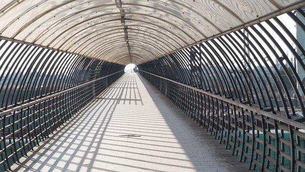 Tunnel, Line, Travel, Opening, Transport, Futuristic