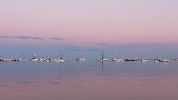 Boats, Sailboats, Coast, Shore, Beach, Marine, Sea, Sky