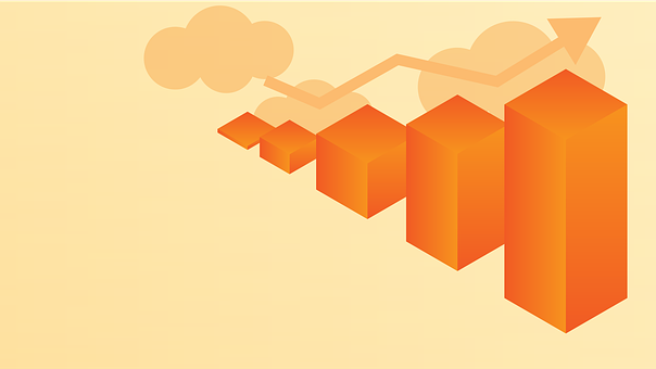 Isometric, Bar Graph, Graph, Trading, Trend, Finance