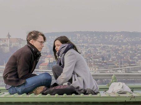 Love, Girl, Guy, Teenagers, Budapest, Bridge, Together