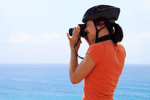 Action, Active, Activity, Blue, Cyclist, Helmet, Human