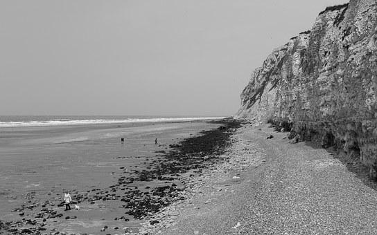 Beach, France, Sea, Ebb, Coast, Holiday, Rock