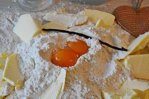 Flour, Egg, Butter, Sugar, Bake, Dough, Cake, Advent