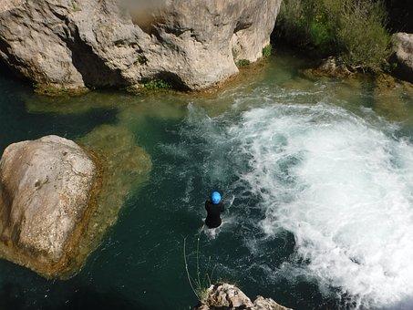 Canyoning, Canyoning Basin, Jump