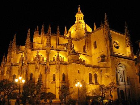 Cathedral, Segovia, City, Spain
