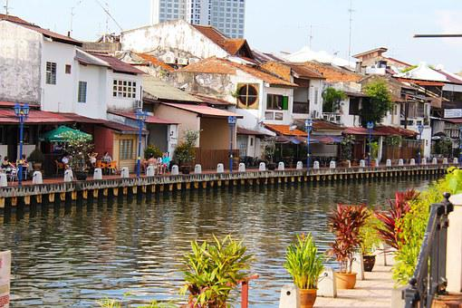 River, Malacca River, City, Cafe, Restaurant, Relax