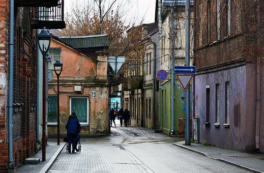 Street, Scene, Old Town, Old, Town, City, European
