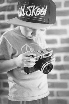 Photographer, Child, Baby, Cap, Boy, Children, Cool