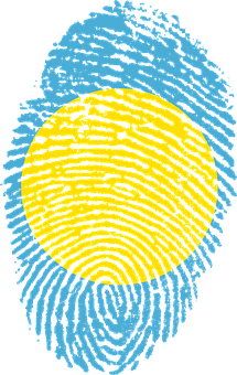 Palau, Flag, Fingerprint, Country, Pride, Identity