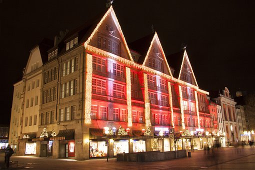 Department Store, Christmas Splendor, Shopping, Three