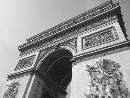 Arc De Triomphe, Paris, Monument, Famous, Triumph
