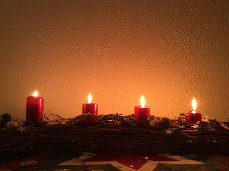 Advent, Christmas, Candlestick, Candle, Light, Fire