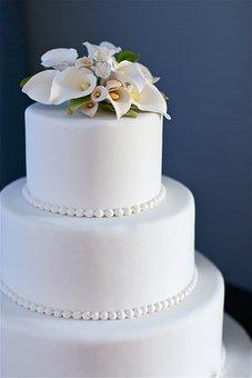Blue, Cake, Wedding Cake, Wedding, Flowers, Food, Sweet