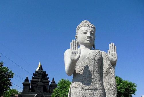 Patung Budha, Vihara, Gilimanuk, Bali, Indonesia