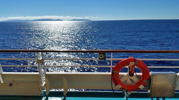 Boat, Lifesaver, Life Ring, Sea, Summer, Vacation