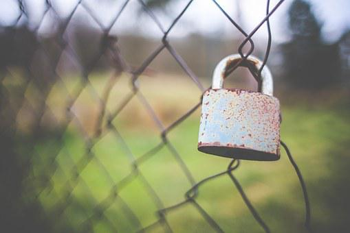 Fence, Lock, Outdoors, Protect, Landscape, Nature