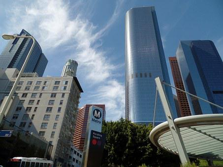 Los Angeles, Downtown, Hill St At Bunker Hill
