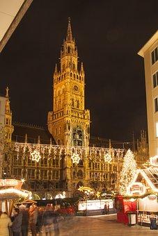 Town Hall, Gothic, Neo Gothic, Munich, Marienplatz