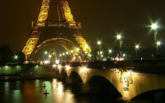 Paris, Bridge, Architecture, Structures, Pillar, River