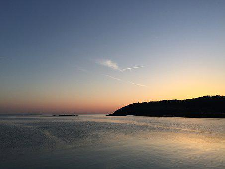 Jeju, Jeju Scenery, Sunset, Sea, Still, Scenery