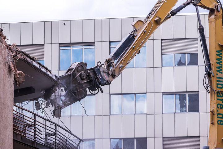 Demolition, Excavators, House Construction, Site