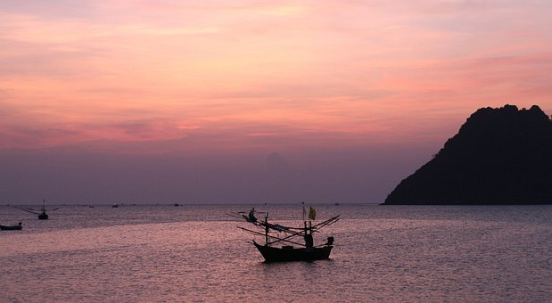Quiet, Calm, Serene, Solitary, Sunrise, Boat, Peace