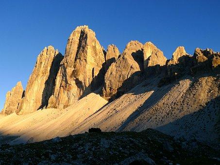 Mountains, Mountain World, Three Zinnen, South Tyrol