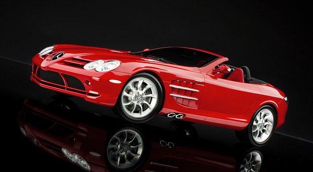Mercedes, Mclaren, Slr, Supercar, Speed, Red, Sportscar