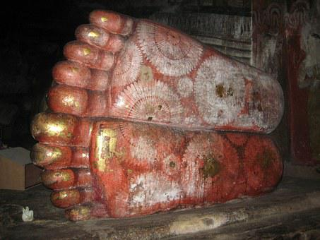 Sri Lanka, Feet, Lying Budha