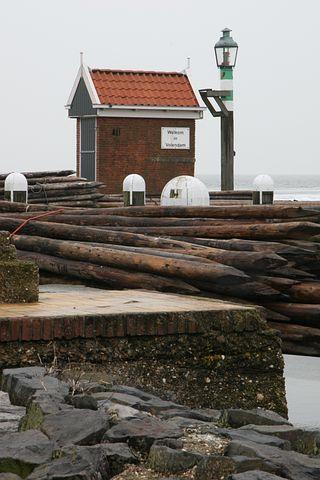 Volendam, Water, Sea, Lamp Post, Stones, Quay, Cottage