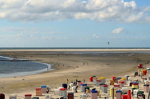 Beach, North Sea, Borkum, Main Beach, Clubs, Summer