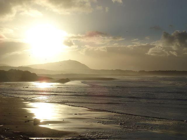 Valdoviño, Beach, Sea, Costa, Sunset, Waves, Landscape