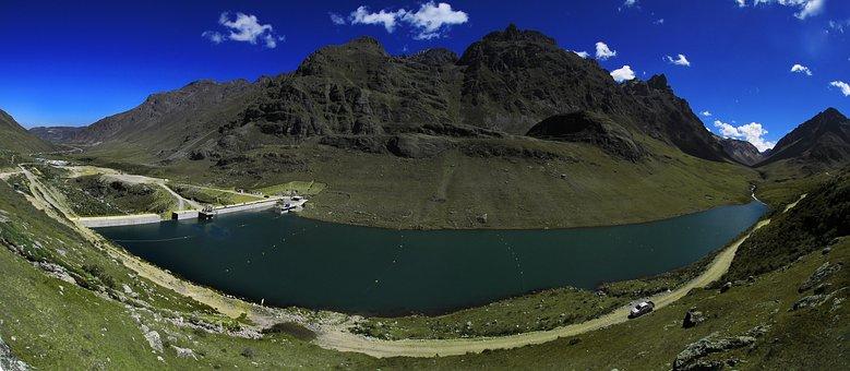 Central Hydroelectric, Huanza, Peru, Water Dam, Dredge