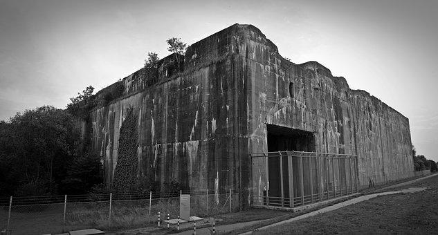 Bunker, Decay, Weathered, Bunker Valentin, Building