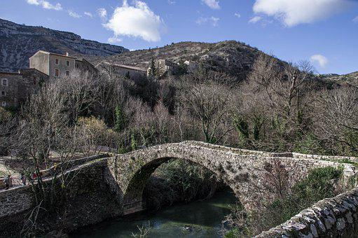 Cévennes, Navacelles, Village, Bridge, Roman, River
