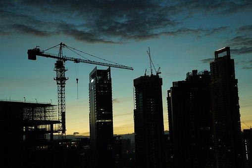 Asian Construction Site, Day Break