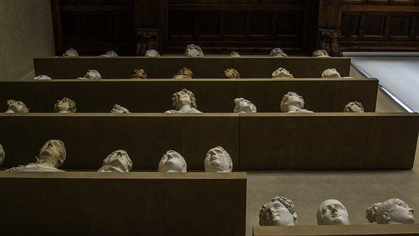 Busts, Heads, Statues, Sculptures, Accademia, Firenze