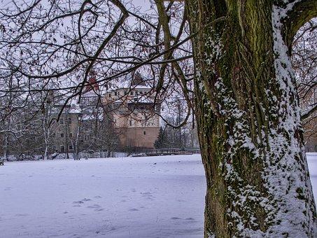 Castle, Winter, Bohemia, Architecture, History, Snow