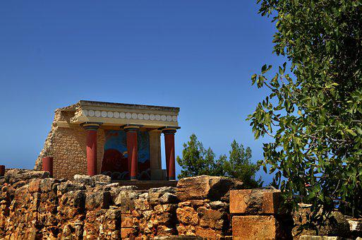 Knossos, Crete, Culture, Archaeology, Ruins, Temple