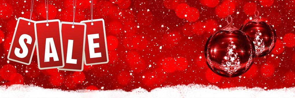 Sale, Christmas Balls, Advertising, Banner, Baubles