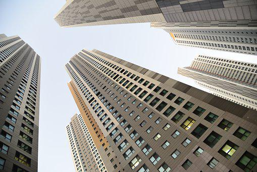 City, Buildings, Sky, Skyscrapers, Apartments