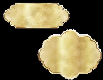 Gold Foil, Label, Decorative, Gold Foil Label, Tags