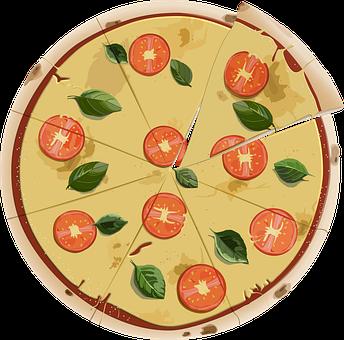 Pizza, Food, Meal, Fast Food, Slices, Margherita