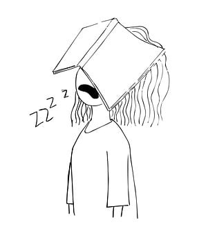 Girl, Sleeping, Book, Knowledge, Literature, Education