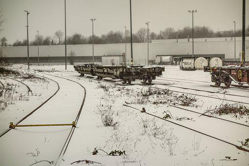 Winter, Snow, Frost, Blizzard, Train, Gleise, Tracks