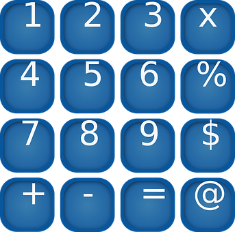 Numbers, Buttons, Symbol