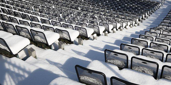 Armchair, Concert, Snow, Winter, Cold, A Number Of